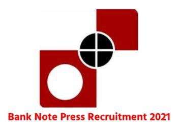 bank note press recruitment 2021